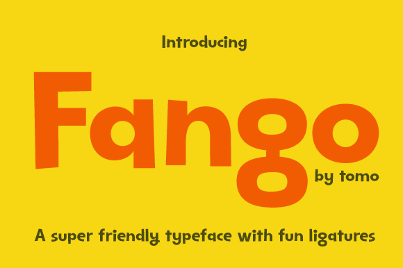 Print on Demand: Tomo Fango Display Font By TOMO Fonts