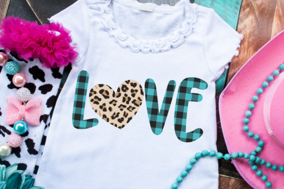 Print on Demand: Valentine's Day Plaid Leopard Heart Graphic Crafts By Morgan Day Designs - Image 2