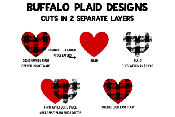 Print on Demand: Valentine's Day Plaid Leopard Heart Graphic Crafts By Morgan Day Designs - Image 3