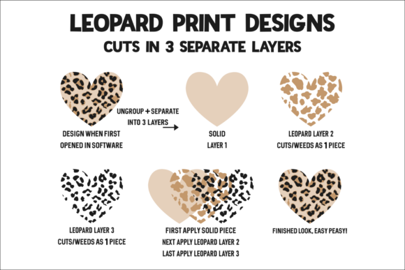 Print on Demand: Valentine's Day Plaid Leopard Heart Graphic Crafts By Morgan Day Designs - Image 4