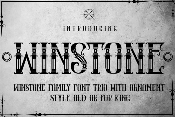 Print on Demand: Winstone Display Font By jehansyah251