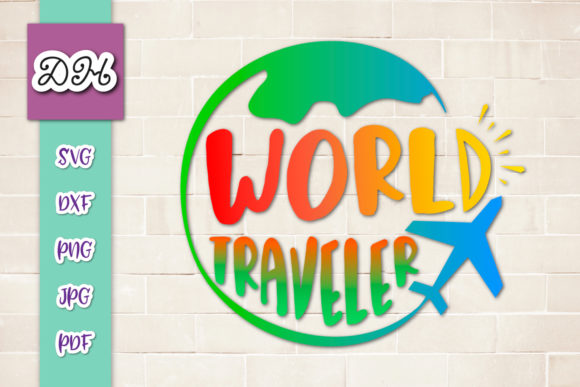 Download Free World Traveler Sign Sublimation File Png Graphic By Digitals By Hanna Creative Fabrica for Cricut Explore, Silhouette and other cutting machines.