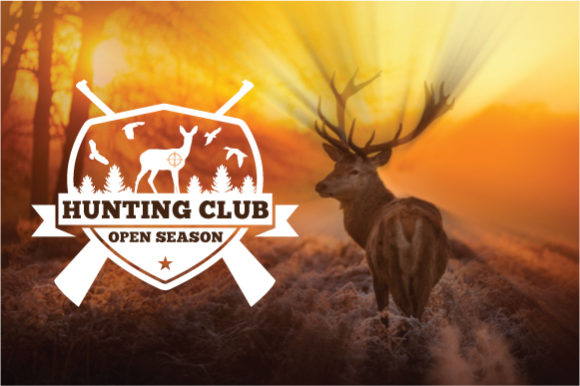 Download Free Hunting Logo Badge Graphic By Octopusgraphic Creative Fabrica for Cricut Explore, Silhouette and other cutting machines.