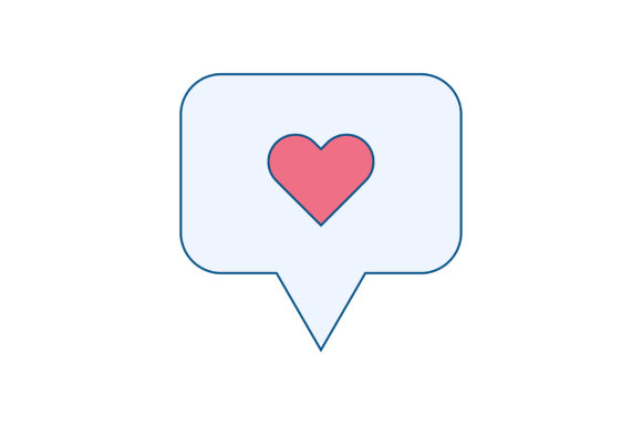 Love Message Liner Fill Icon Vector Graphic By Riduwan Molla
