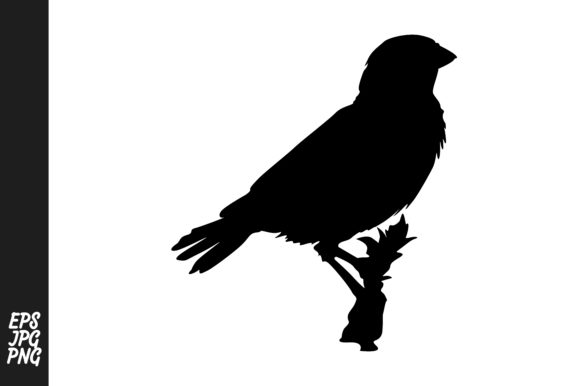 Download Free Bird Silhouette Sparrow Vector Graphic By Arief Sapta Adjie for Cricut Explore, Silhouette and other cutting machines.