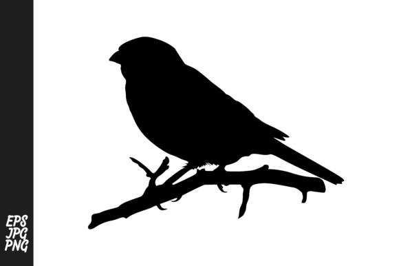 Print on Demand: Silhouette Sparrow Vector Graphic Crafts By Arief Sapta Adjie