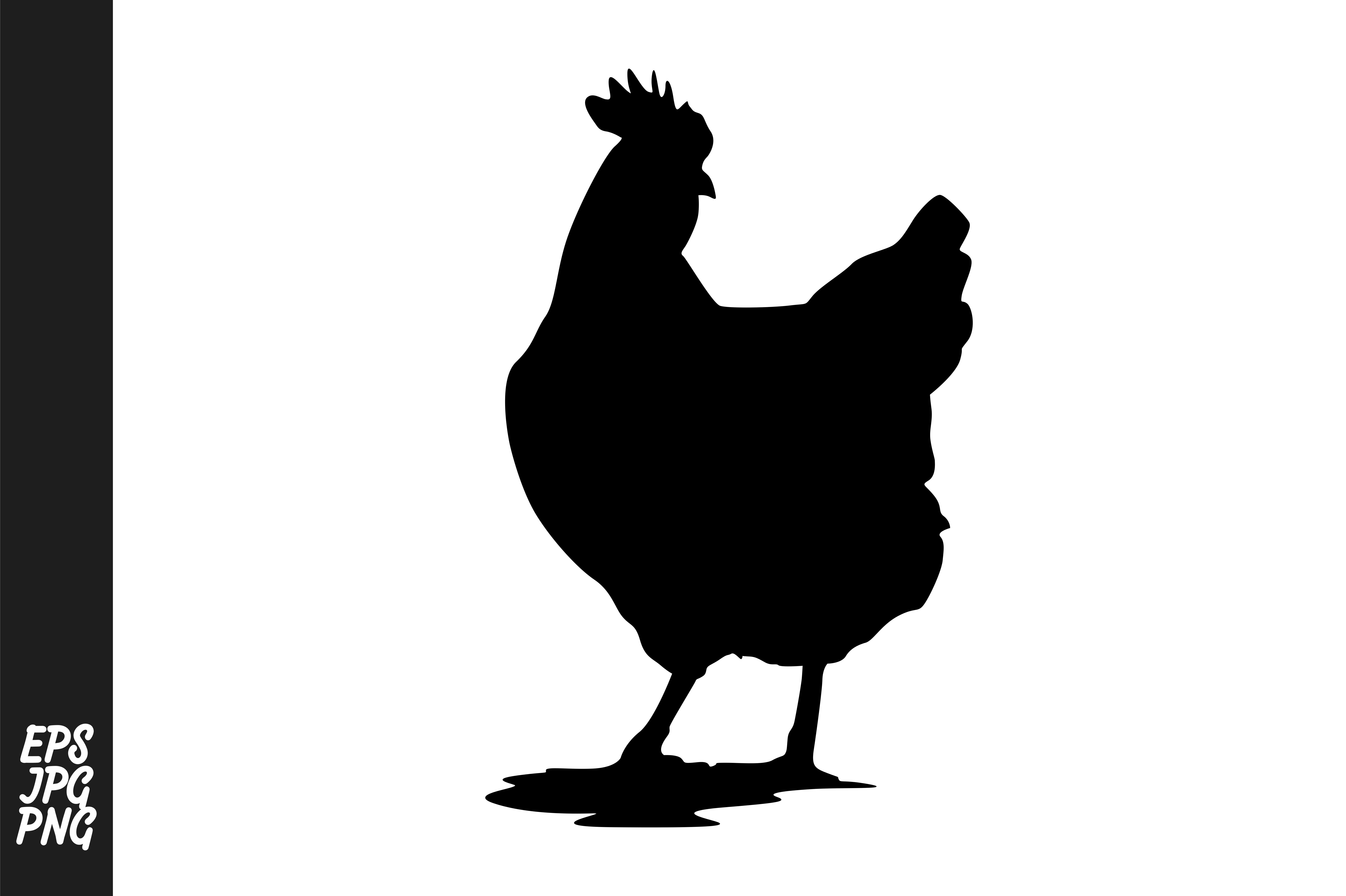 Download Free Chicken Silhouette Vector Graphic By Arief Sapta Adjie for Cricut Explore, Silhouette and other cutting machines.