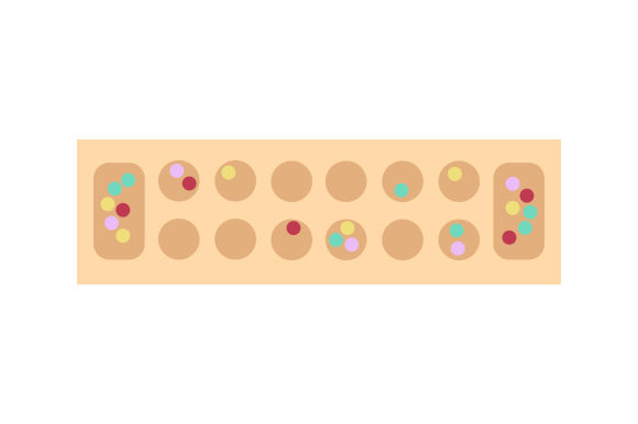 Download Free Mancala Board Svg Cut File By Creative Fabrica Crafts Creative for Cricut Explore, Silhouette and other cutting machines.