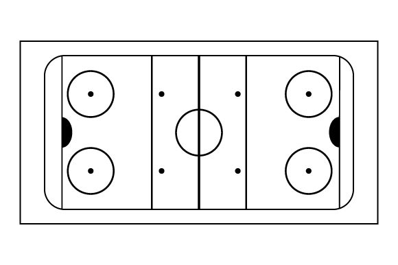 Hockey Rink Sports Craft Cut File By Creative Fabrica Crafts - Image 2