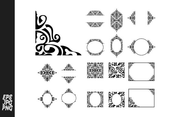 Print on Demand: Ornament Vector Decoration Bundle Graphic Crafts By Arief Sapta Adjie