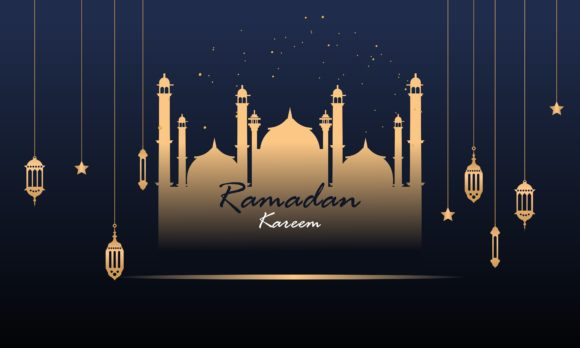 Download Free Ramadan Kareem And Mubarak Greeting Logo Graphic By Deemka for Cricut Explore, Silhouette and other cutting machines.