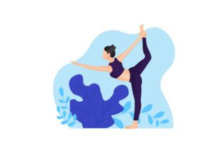 Download Free Women S Meditation In Lotus Pose Yoga Graphic By Deemka Studio for Cricut Explore, Silhouette and other cutting machines.