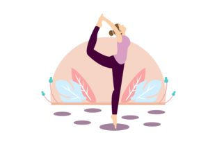 Download Free Women S Meditation In Lotus Pose Yoga Graphic By 2qnah for Cricut Explore, Silhouette and other cutting machines.