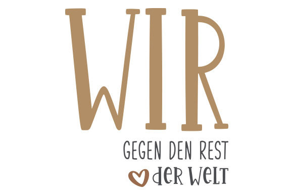 Download Free Wir Gegen Den Rest Der Welt Svg Cut File By Creative Fabrica SVG Cut Files