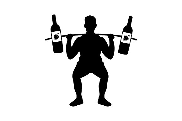 Download Free Wine Weight Lifter Man Svg Cut File By Creative Fabrica Crafts for Cricut Explore, Silhouette and other cutting machines.
