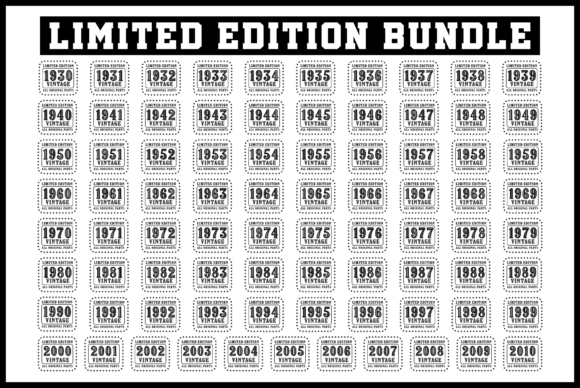Print on Demand: 1930-2010 Limited Edition Bundle Graphic Product Mockups By colorsplash - Image 1