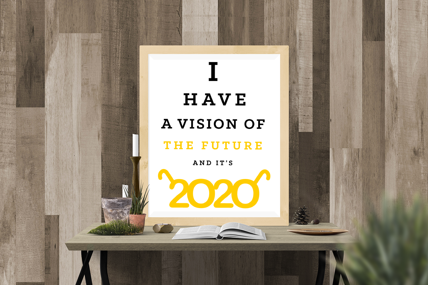 Download Free 2020 Vision New Year Svg Graphic By Designedbygeeks Creative for Cricut Explore, Silhouette and other cutting machines.