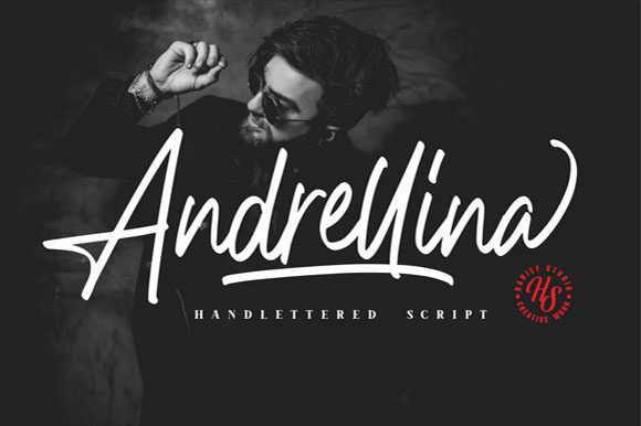 Print on Demand: Andrellina Script & Handwritten Font By Hanzel Studio