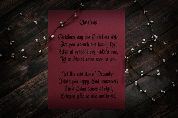 Print on Demand: Atmospheric Christmas Blackletter Font By it_was_a_good_day - Image 3