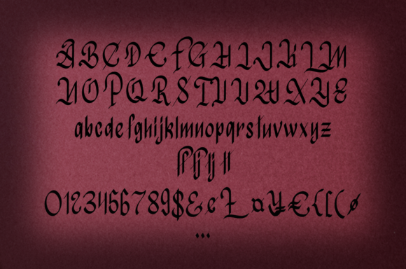 Print on Demand: Atmospheric Christmas Blackletter Font By it_was_a_good_day - Image 4