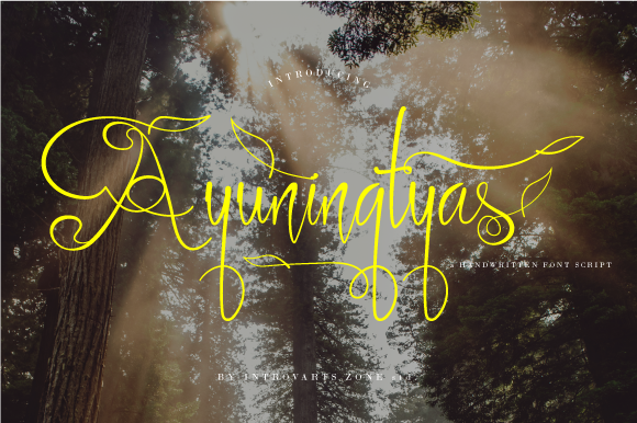 Print on Demand: Ayuningtyas Script & Handwritten Font By IntrovArtZone