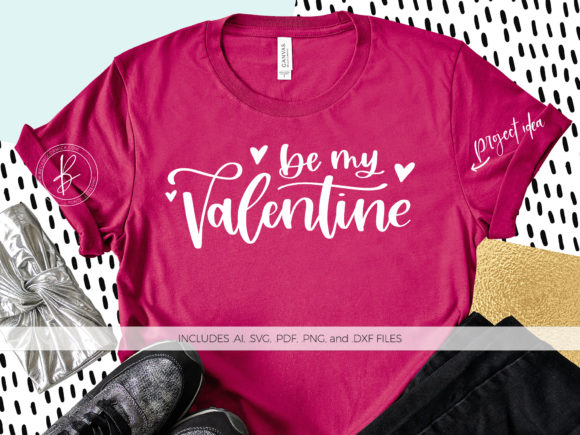Print on Demand: Be My Valentine Graphic Crafts By BeckMcCormick - Image 1