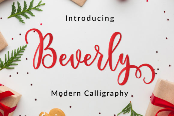 Print on Demand: Beverly Script Script & Handwritten Font By Amarlettering