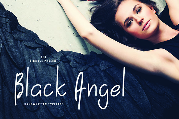 Print on Demand: Black Angel Script & Handwritten Font By thebibbble