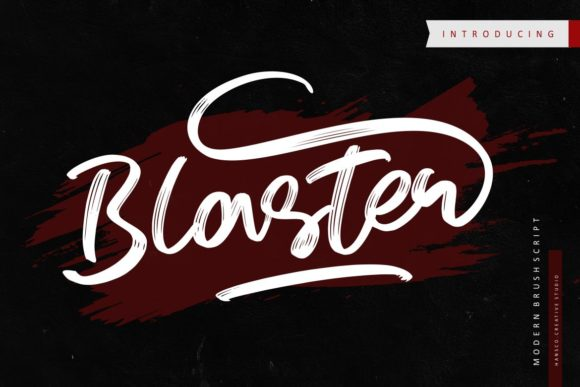 Print on Demand: Blaster Script & Handwritten Font By HansCo