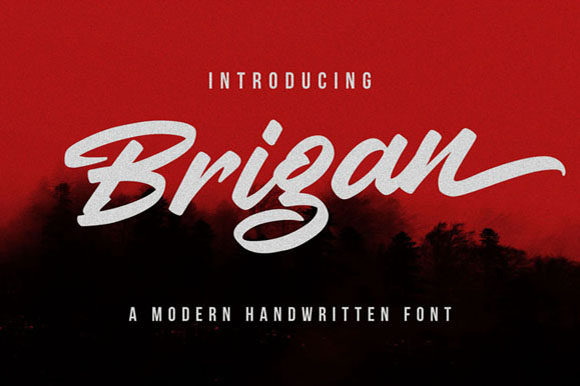 Print on Demand: Brigan Script & Handwritten Font By Hanzel Studio