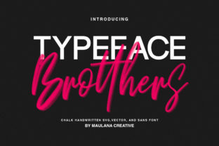 Print on Demand: Brotthers Display Font By Maulana Creative