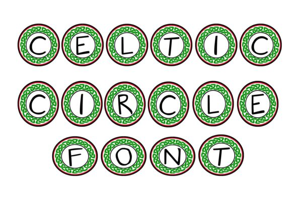 Print on Demand: Celtic Circle Decorative Font By capeairforce - Image 2