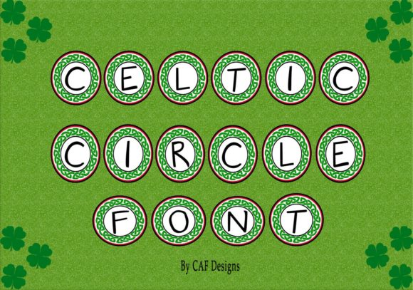 Print on Demand: Celtic Circle Decorative Font By capeairforce - Image 3