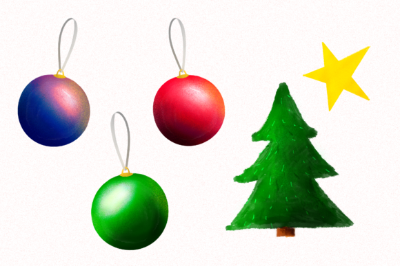 Download Free Christmas Ornaments Star Ball Xmas Tree Graphic By for Cricut Explore, Silhouette and other cutting machines.