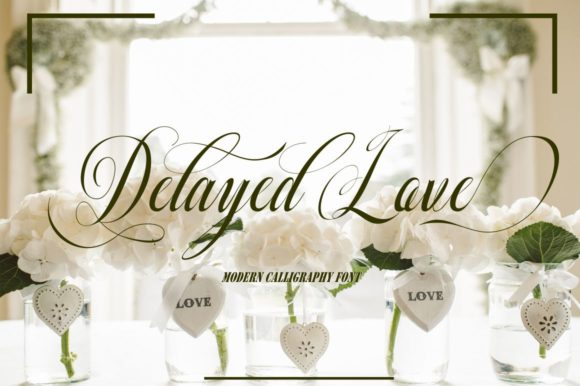 Download Free Delayed Love Font By Bot Kerling Creative Fabrica for Cricut Explore, Silhouette and other cutting machines.