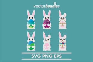 Download Free Easter Egg Bunny Clip Art Graphic By Vectorbundles Creative for Cricut Explore, Silhouette and other cutting machines.