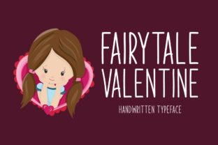Print on Demand: Fairytale Valentine Display Font By Instagram Fonts