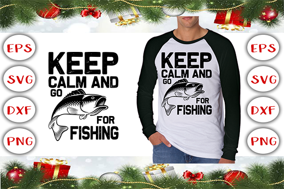 Fishing T-Shirt Design Graphic Print Templates By Graphics Cafe