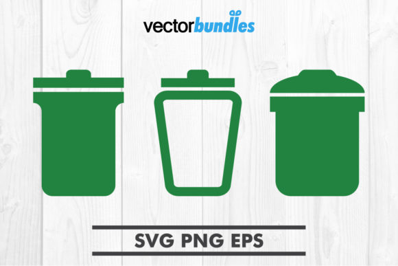 Download Free Garbage Clip Art Graphic By Vectorbundles Creative Fabrica for Cricut Explore, Silhouette and other cutting machines.