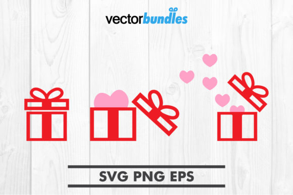 Download Free Gift Box Clip Art Graphic By Vectorbundles Creative Fabrica for Cricut Explore, Silhouette and other cutting machines.