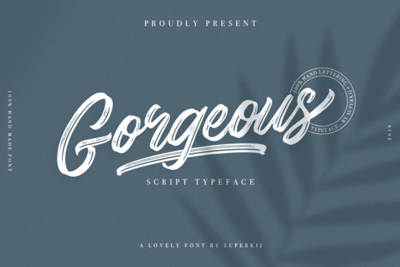 Print on Demand: Gorgeous Script & Handwritten Font By Superkij