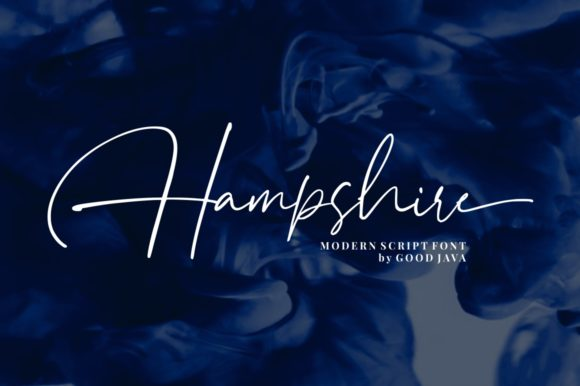 Print on Demand: Hampshire Script & Handwritten Font By goodjavastudio