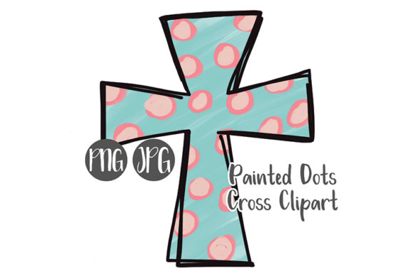 Print on Demand: Hand Drawn Easter Cross Clipart - #1 Graphic Illustrations By boecustomdesign