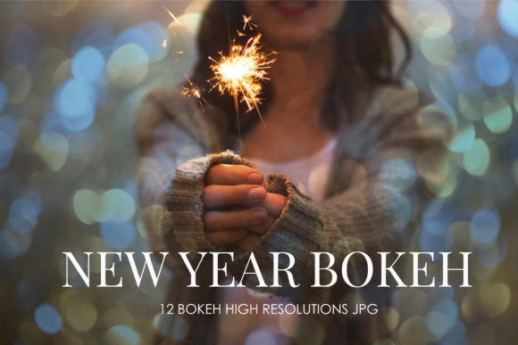 Print on Demand: Happy New Year Bokeh Overlays Graphic Backgrounds By The Rose Mind