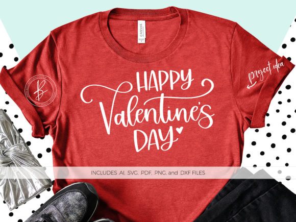 Print on Demand: Happy Valentine's Day Graphic Crafts By BeckMcCormick