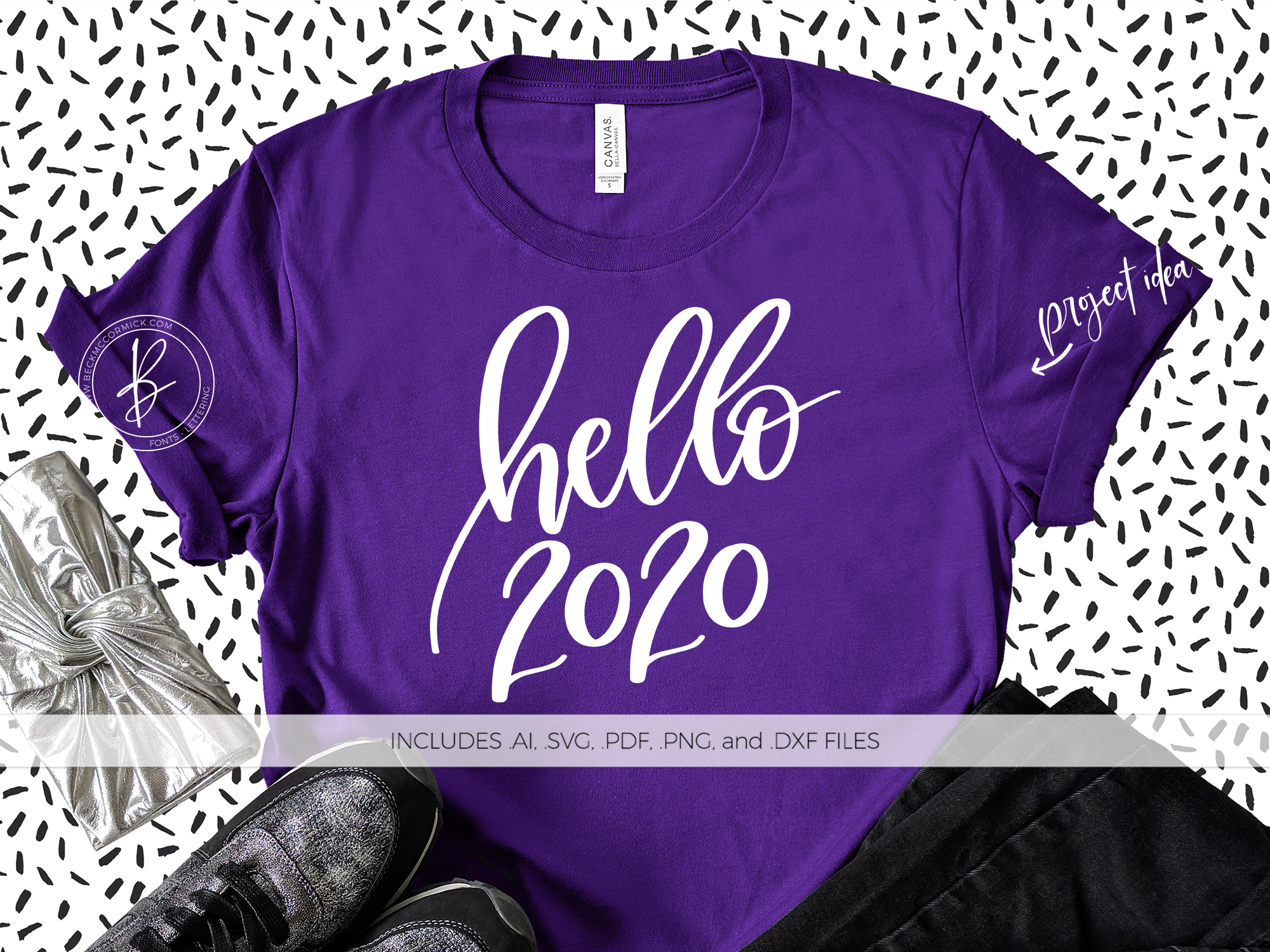 Download Free Hello 2020 Graphic By Beckmccormick Creative Fabrica for Cricut Explore, Silhouette and other cutting machines.