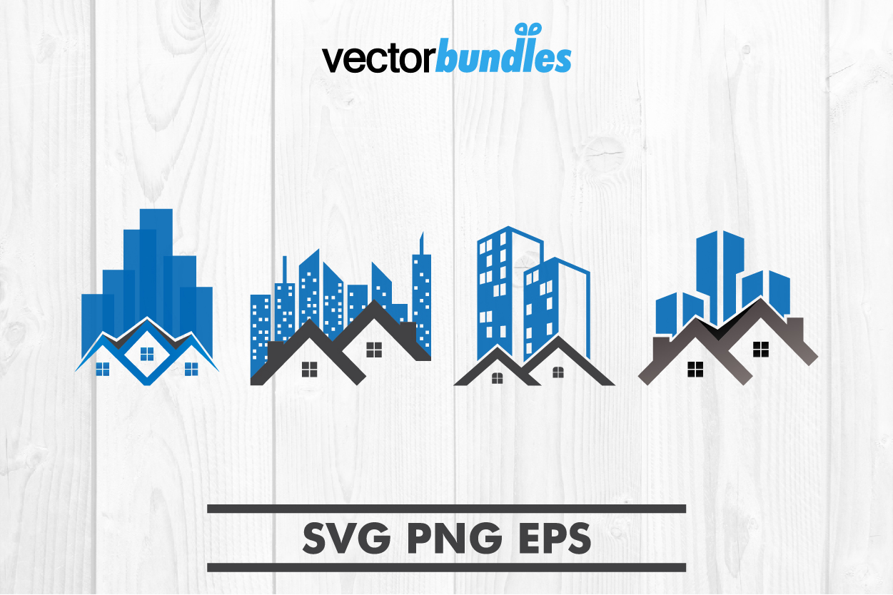 Download Free House Skyscraper Clip Art Graphic By Vectorbundles Creative for Cricut Explore, Silhouette and other cutting machines.