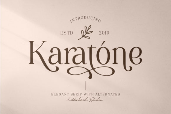 Print on Demand: Karatone Serif Font By letterhend