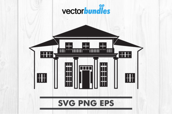 Download Free Mansion House Clip Art Graphic By Vectorbundles Creative Fabrica for Cricut Explore, Silhouette and other cutting machines.