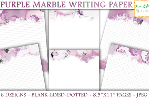 Marble Printable Stationery Note Paper Graphic Objects By GreenLightIdeas